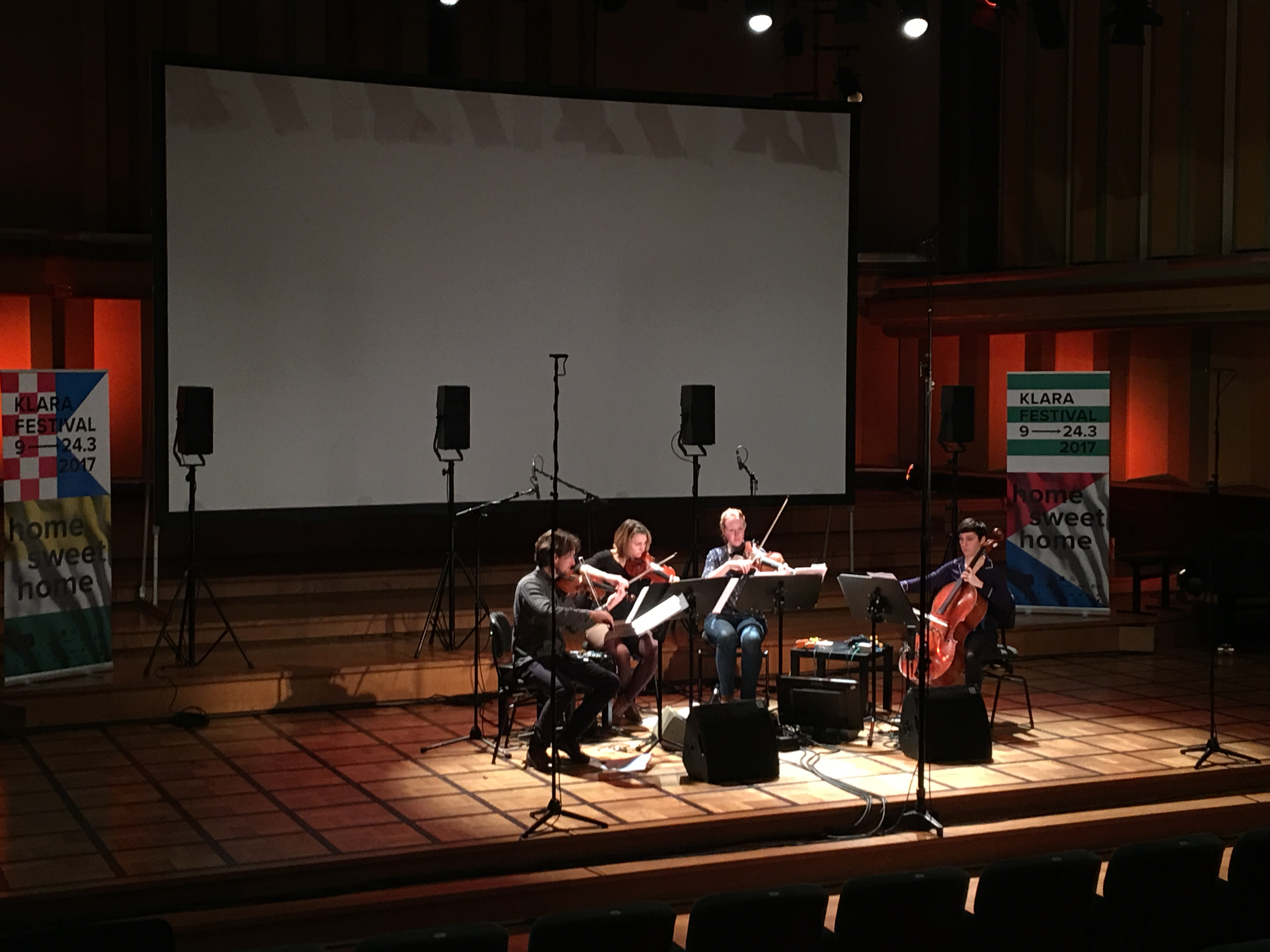 Concert in Flagey, Brussels -  Amôn Quartet