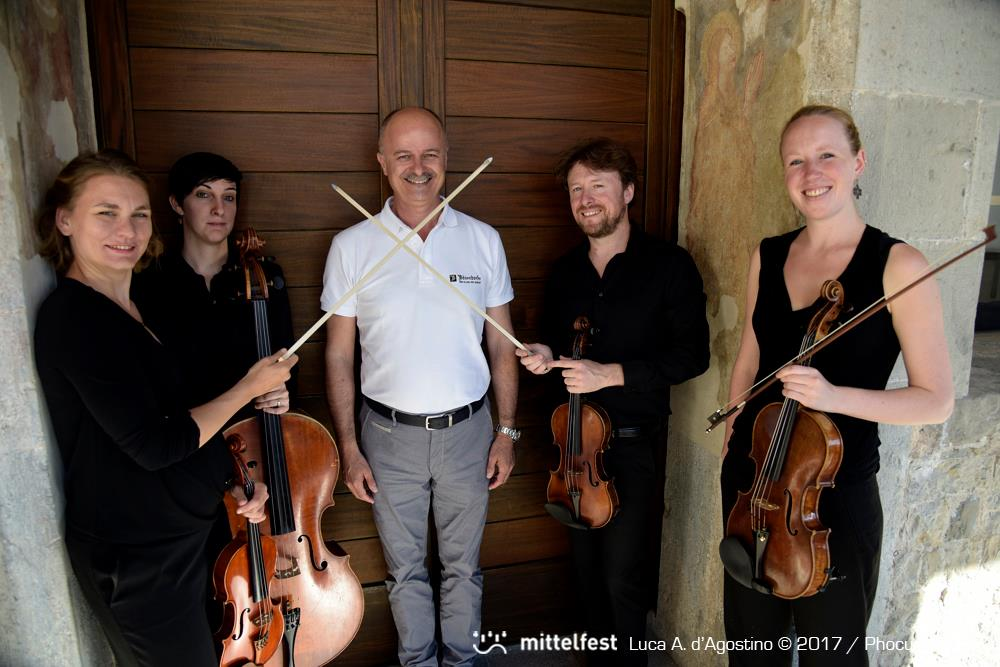 Amon Quartet and Franco Calabretto, Mittelfest director